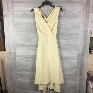 Lafayette 148 Pale Yellow Midi Dress